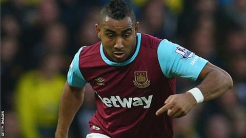 West Ham attacking midfielder Dimitri Payet