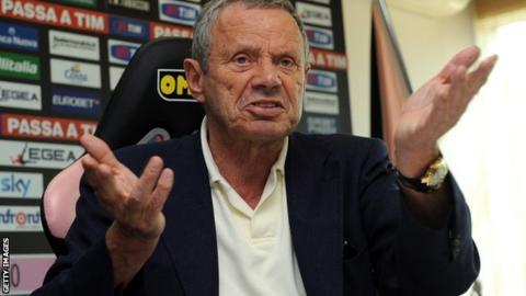 Palermo president Maurizio Zamparini
