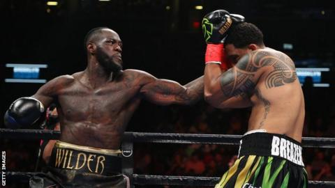 Deontay Wilder knocks out Dominic Breazeale in first round to defend title
