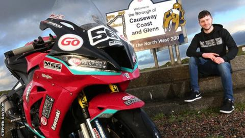 North West 200: Adam McLean still getting to grips with Kawasaki Superbike