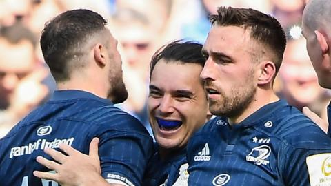 Leinster celebrate