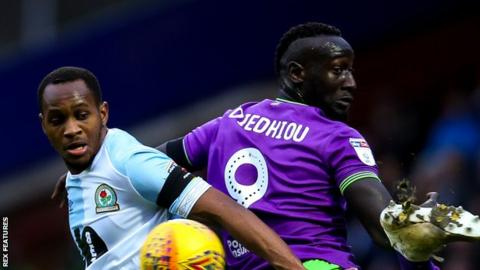 Nyambe is yet to find the net for Blackburn