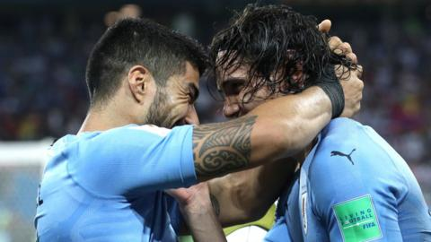Luis Suarez and Edison Cavani