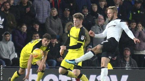 Johnny Russell scores for Derby County