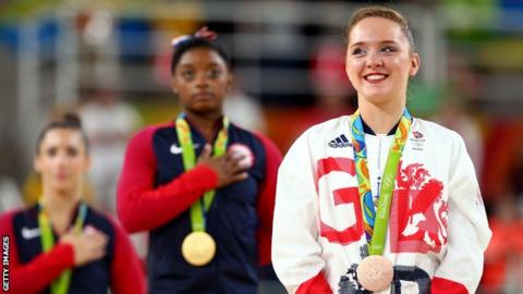 Amy Tinkler wins bronze in Rio in 2016