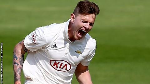 Surrey fast bowler Conor McKerr took the final wicket at The Oval to end with match figures of 7-47