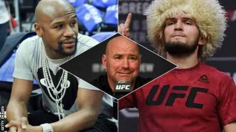 Floyd Mayweather v Khabib Nurmagomedov fight 'should happen in UFC'