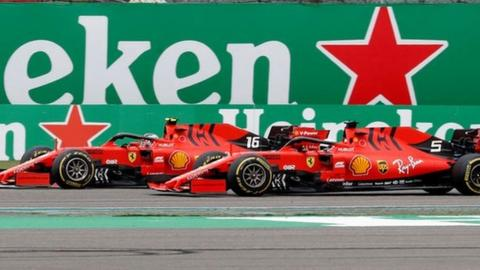 Charles Leclerc is ordered to let team-mate Sebastian Vettel through