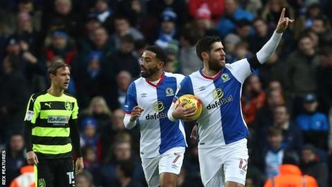 Danny Graham scored his fifth goal of the season to level from the penalty spot against Huddersfield at Ewood Park