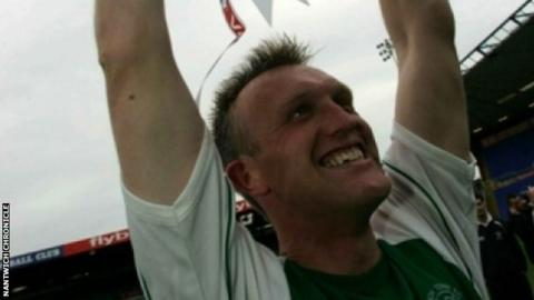 Steve Davis, now Crewe Alexandra boss, was the Nantwich Town player-manager in 2006, the day they beat Hillingdon Borough to lift the FA Vase at St Andrew's, Birmingham