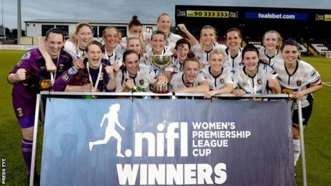Women's Irish Cup final: Glens star Jessie Davis says winning trophy 'is everything'