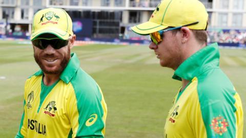 Australia's David Warner and Steve Smith