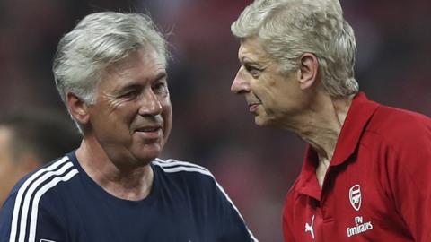 Carlo Ancelotti and Arsene Wenger