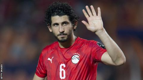 Ahmed Hegazi in action for Egypt