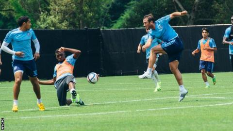 Frank Lampard trains with New York City FC