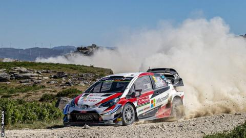 Kris Meeke and co-driver Sebastian Marshall in action at Rally Portugal earlier this month