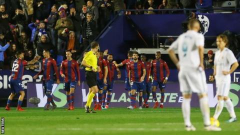 Levante celebrate a goal