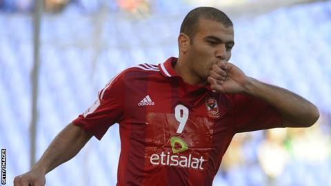 Egyptian striker Emad Moteab
