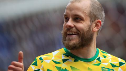 Teemu Pukki in action for Norwich City