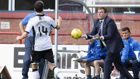 St Johnstone manager Tommy Wright tries to speed up his side