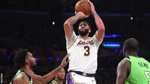 La Lakers Anthony Davis Scores 50 Points In 142 125 Victory