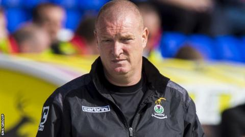 Inverness CT assistant manager Brian Rice