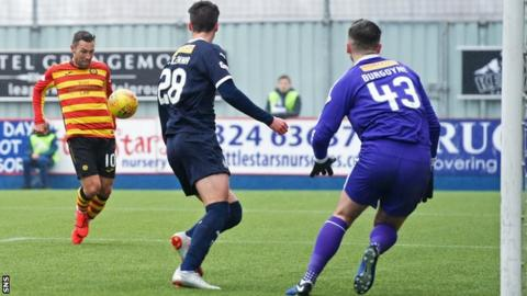 Scott McDonald's goal was his fourth in six games for Thistle