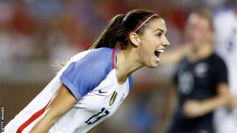 USA striker Alex Morgan