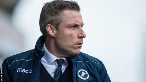 Millwall manager Neil Harris on the sidelines