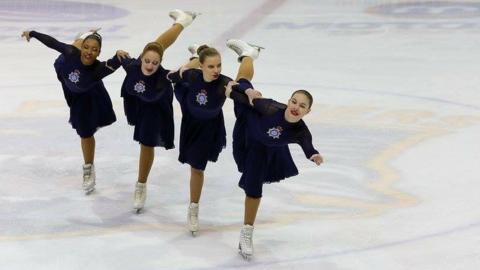 Synchronised ice skating
