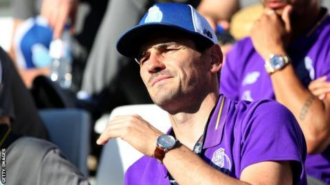 Iker Casillas watching Porto play from the stands