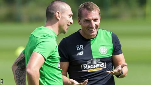 Celtic captain Scott Brown and manager Brendan Rodgers