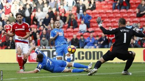 Gaston Ramirez puts Middlesbrough in front against Bournemouth