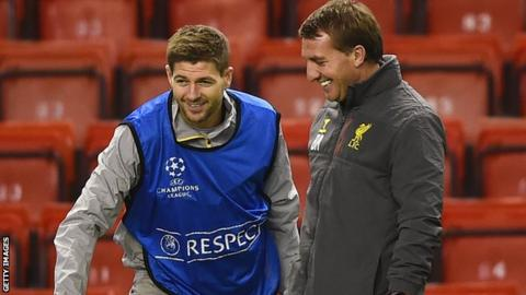 Brendan Rodgers was Steven Gerrard's manager at Liverpool