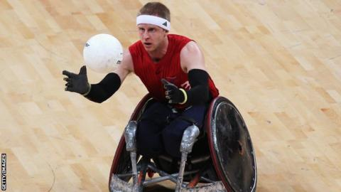 GB wheelchair rugby player Aaron Phipps