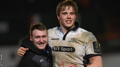 Stuart Hogg and Jonny Gray
