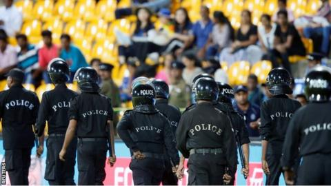 Riot police officers