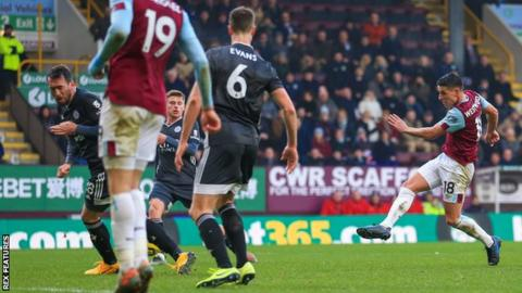 Burnley 2-1 Leicester: Ashley Westwood scores stunner as Clarets end losing run