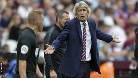 Manuel Pellegrini insists West Ham 'dominated parts of Arsenal game'