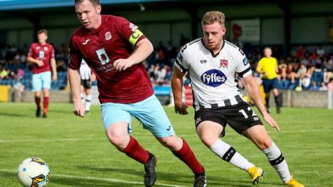 Byrne made just two league appearances this season for Dundalk before joining the Glens
