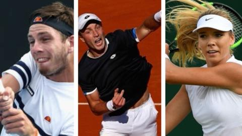 Cameron Norrie, Liam Broady and Katie Boulter