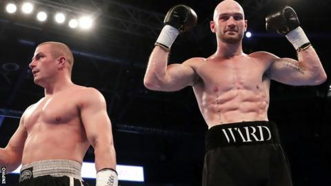 Steven Ward defeated Michal Ciach in his last fiht in Belfast in April