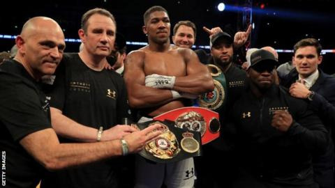 905e50951 Joshua has 19 wins by knockout from 19 fights. Britain's Anthony Joshua  will defend his ...