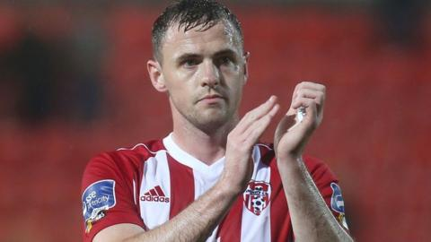 Darren McCauley: Derry boss Devine says winger unlikely to return for cup semi-final