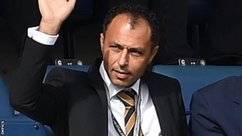 Ehab Allam in the stands to watch Hull City play QPR in August 2017