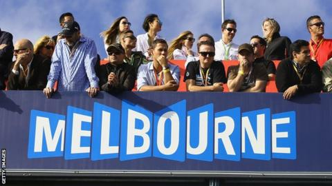 Fans at the 2015 Australian Grand Prix in Melbourne