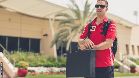 Sebastian Vettel at the Bahrain GP