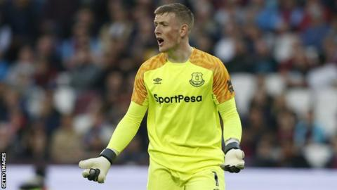 Jordan Pickford: Everton investigating alleged incident involving England goalkeeper