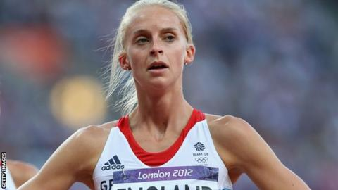 Hannah England of Great Britain of Great Britain looks on after competing in the Women's 1500m semi-finals at the London 2012 Olympic Games