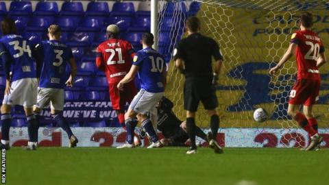 Cedric Kipre sealed Wigan's first away win since April with the Latics' third goal at St Andrew's